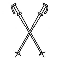 Nord walking sticks icon. Outline illustration of nord walking sticks vector icon for web design isolated on white background
